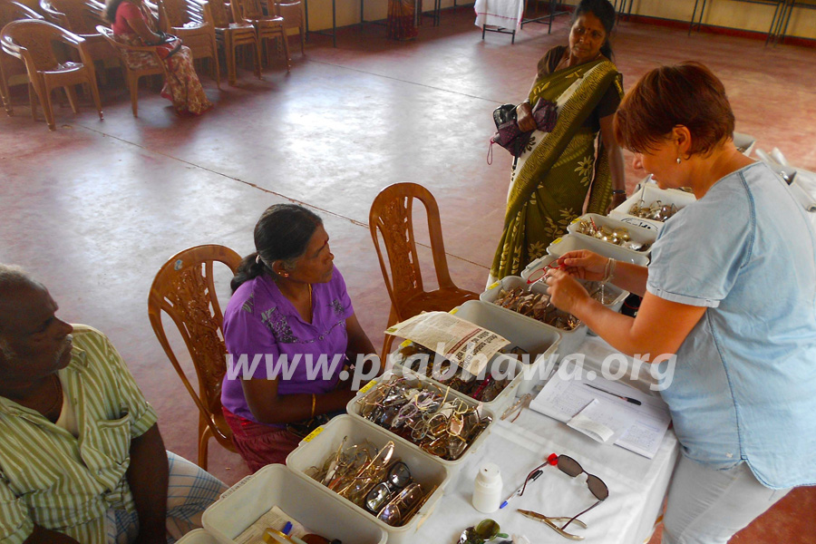 Prabhawa spectacles donation - Glannor Estate